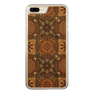 Funda Para iPhone 8 Plus/7 Plus De Carved Remiendo del vintage con los elementos florales de