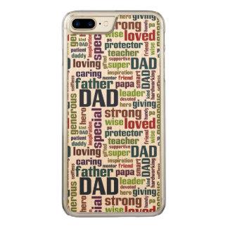 Funda Para iPhone 8 Plus/7 Plus De Carved Tipografía del día de padre del texto de la nube