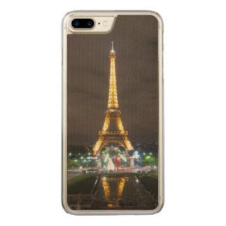 Funda Para iPhone 8 Plus/7 Plus De Carved Torre Eiffel en la noche, París