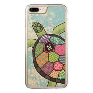 Funda Para iPhone 8 Plus/7 Plus De Carved Tortuga de mar colorida del monograma del modelo