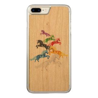 Funda Para iPhone 8 Plus/7 Plus De Carved Unicornios salvajes coloridos del ejemplo