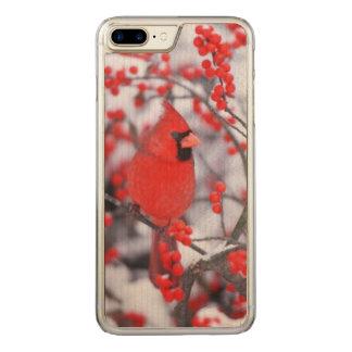 Funda Para iPhone 8 Plus/7 Plus De Carved Varón cardinal septentrional, invierno, IL