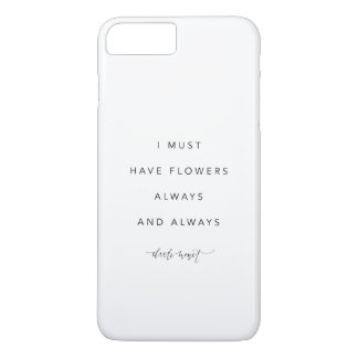Funda Para iPhone 8 Plus/7 Plus Debo tener cubierta del iPhone 7 de las flores