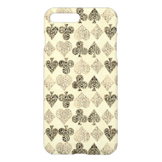 Funda Para iPhone 8 Plus/7 Plus Diamante beige Antiqued envejecido del corazón del