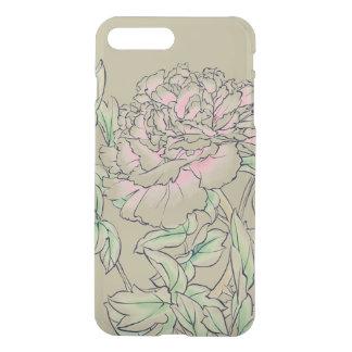 Funda Para iPhone 8 Plus/7 Plus Dibujo chino de la tinta de la flor del Peony