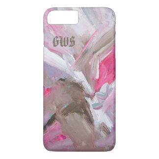 Funda Para iPhone 8 Plus/7 Plus Dinámica en caja abstracta Painterly color de rosa