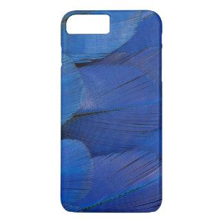 Funda Para iPhone 8 Plus/7 Plus Diseño azul de la pluma del Macaw del jacinto