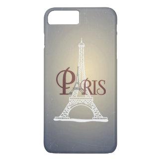 Funda Para iPhone 8 Plus/7 Plus Diseño azul de París de la torre Eiffel del