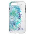 Funda Para iPhone 8 Plus/7 Plus Diseño floral de la mandala del azul y del trullo