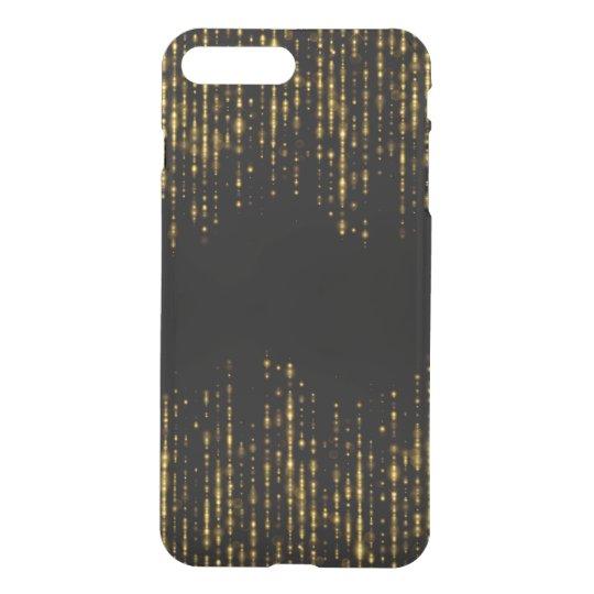 Funda Para iPhone 8 Plus/7 Plus Diseño negro y atractivo GR1 del purpurina del oro