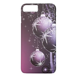 Funda Para iPhone 8 Plus/7 Plus Diseño púrpura hermoso del navidad