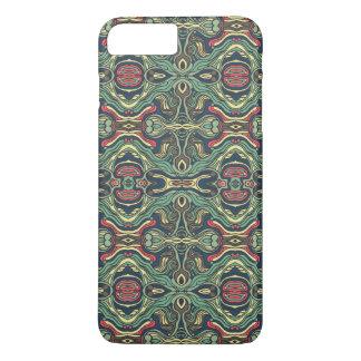 Funda Para iPhone 8 Plus/7 Plus Diseño rizado dibujado mano colorida abstracta del