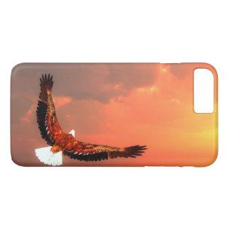Funda Para iPhone 8 Plus/7 Plus Eagle que vuela al sol - 3D rinden