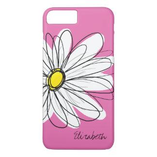 Funda Para iPhone 8 Plus/7 Plus Ejemplo floral de la margarita de moda - amarillo