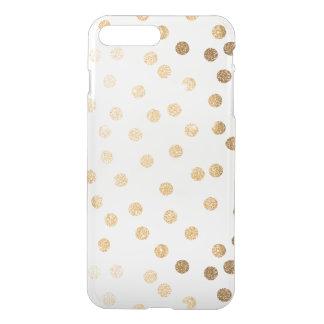 Funda Para iPhone 8 Plus/7 Plus El brillo del oro puntea la caja clara del