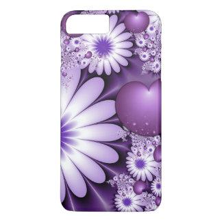 Funda Para iPhone 8 Plus/7 Plus El caer en fractal de las flores y de los