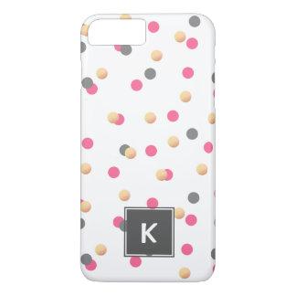 Funda Para iPhone 8 Plus/7 Plus el confeti rosado gris oro elegante del polluelo