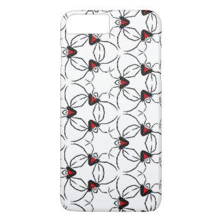 Funda Para iPhone 8 Plus/7 Plus El rojo y el negro diseñan la atracción de una