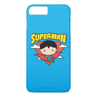 Funda Para iPhone 8 Plus/7 Plus Escudo y nombre del lunar del superhombre de Chibi