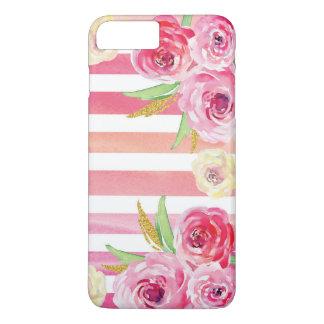 Funda Para iPhone 8 Plus/7 Plus Estampado de flores colorido de la acuarela