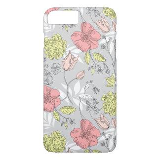Funda Para iPhone 8 Plus/7 Plus Estampado de plores del tulipán del vintage