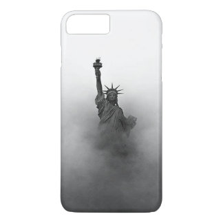 Funda Para iPhone 8 Plus/7 Plus Estatua de la libertad cubierta en niebla