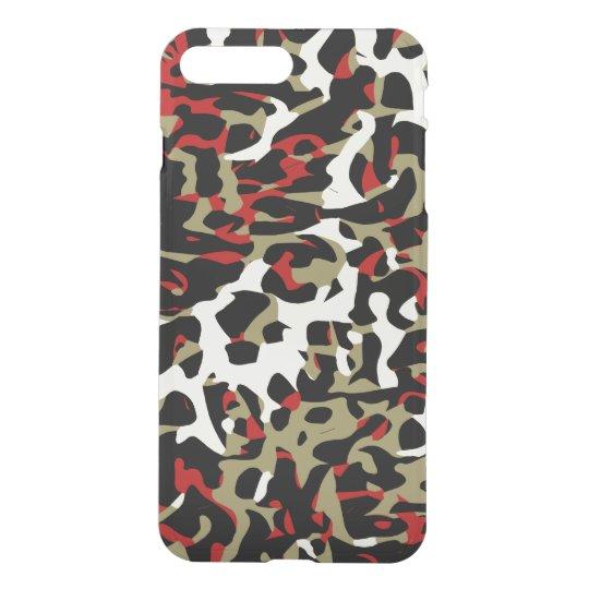 Funda Para iPhone 8 Plus/7 Plus Extracto poner crema negro rojo del guepardo