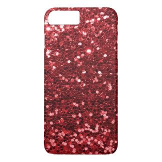 Funda Para iPhone 8 Plus/7 Plus Falsa impresión roja de rubíes de la chispa del