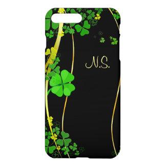 Funda Para iPhone 8 Plus/7 Plus Falsa onda del brillo del negro afortunado verde