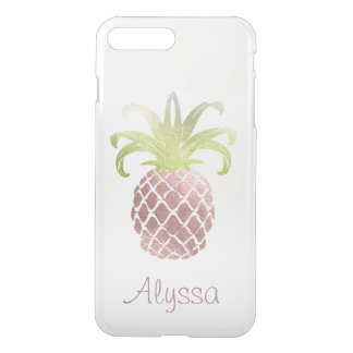 Funda Para iPhone 8 Plus/7 Plus Falso fondo color de rosa del oro Pineapple/DIY de