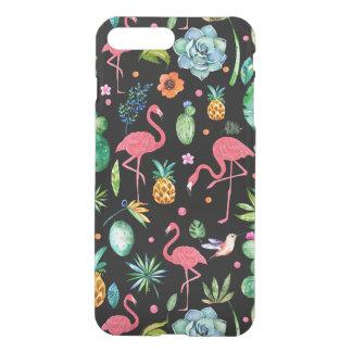 Funda Para iPhone 8 Plus/7 Plus Flamencos rosados y collage tropical GR2 de las