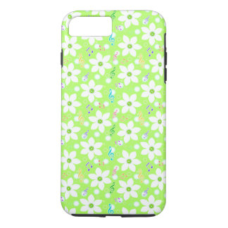 Funda Para iPhone 8 Plus/7 Plus Floral blanco lindo