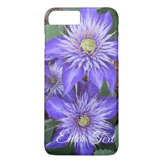 Funda Para iPhone 8 Plus/7 Plus Flores azules del Clematis