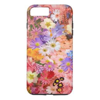 Funda Para iPhone 8 Plus/7 Plus Flores de la primavera rosada y roja