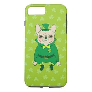 Funda Para iPhone 8 Plus/7 Plus Frenchie lindo afortunado el el día de St Patrick