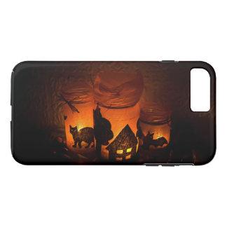 Funda Para iPhone 8 Plus/7 Plus Gato negro de Halloween con las lumbreras y los