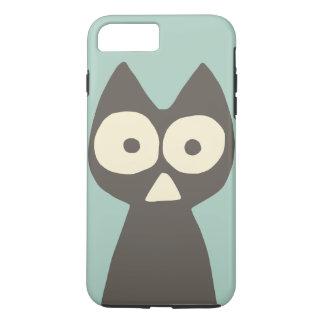 Funda Para iPhone 8 Plus/7 Plus Gato simbólico del triángulo gris verde del agua