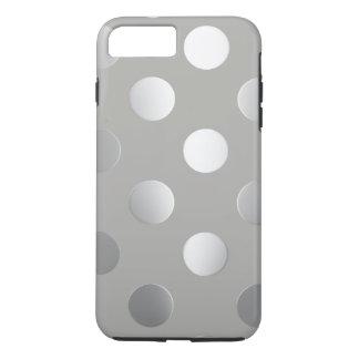 Funda Para iPhone 8 Plus/7 Plus Gris, lunares de plata