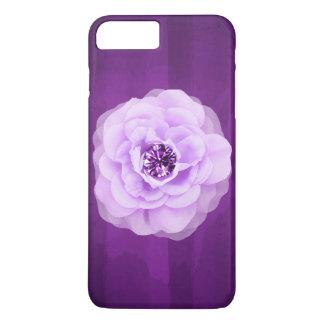 Funda Para iPhone 8 Plus/7 Plus Grunge púrpura subió diamante de la lavanda