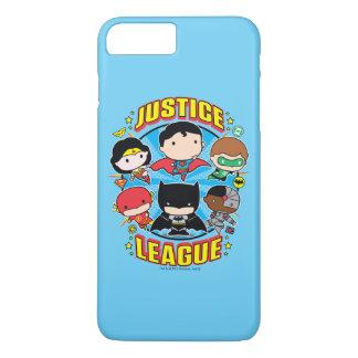 Funda Para iPhone 8 Plus/7 Plus Grupo de la liga de justicia de Chibi