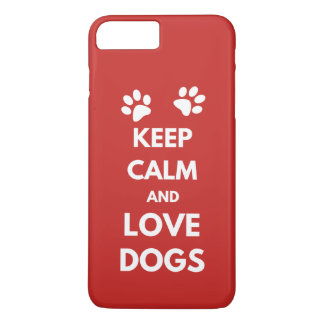 Funda Para iPhone 8 Plus/7 Plus Guarde la calma y ame los perros