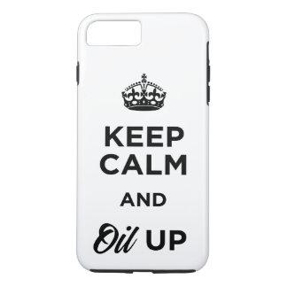 Funda Para iPhone 8 Plus/7 Plus Guarde la calma y engrase para arriba