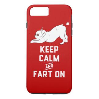 Funda Para iPhone 8 Plus/7 Plus Guarde la calma y Fart encendido con el dogo