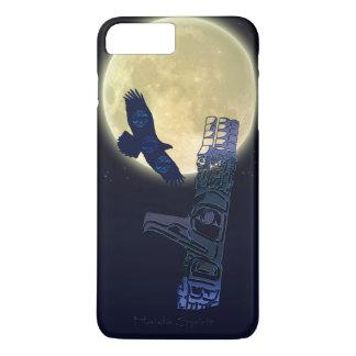 Funda Para iPhone 8 Plus/7 Plus Haida Eagle, Luna Llena y arte del natural del