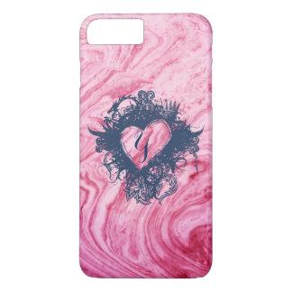 Funda Para iPhone 8 Plus/7 Plus hermoso elegante del modelo de mármol rosado de la