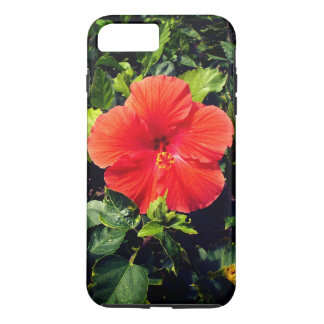 Funda Para iPhone 8 Plus/7 Plus Hibisco anaranjado