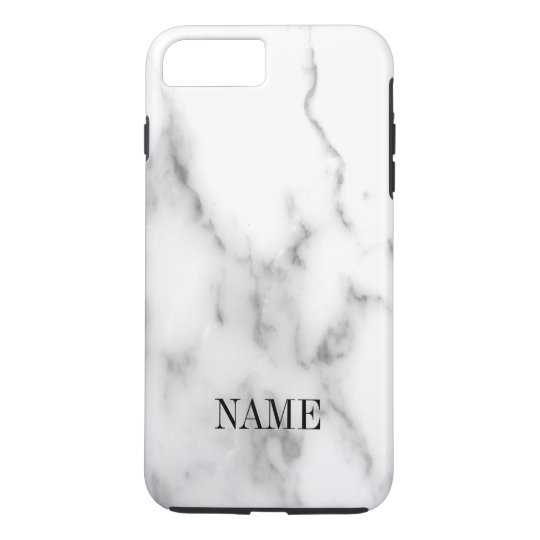 Funda Para iPhone 8 Plus/7 Plus Impresión de piedra de mármol blanca del fondo