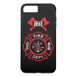 Funda Para iPhone 8 Plus/7 Plus Insignia del cuerpo de bomberos