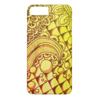 Funda Para iPhone 8 Plus/7 Plus iPhone 7 más, Doodle de Apple del oro de Barely