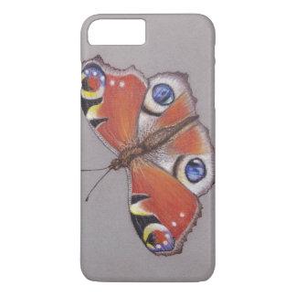 Funda Para iPhone 8 Plus/7 Plus Iphone 8 de la mariposa de pavo real más el caso